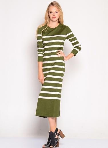 Limon Company LİMON COMPANY O yaka elbise kadın 36 beden Haki
